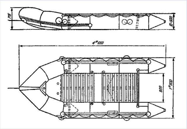 рисунок лодки Бомбара